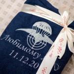 Вышивка своего логотипа на махровом халате