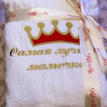 Вышивка для бабушки на халате