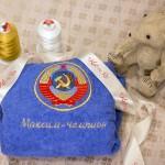 Герб СССР на именном детском халате