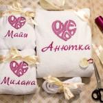 Халаты с вышивкой для любимой жены и дочек