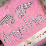 Ангелина и крылья - вышивка серебряной нитью