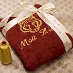 Подарок мужу - халат с индивидуальной вышивкой