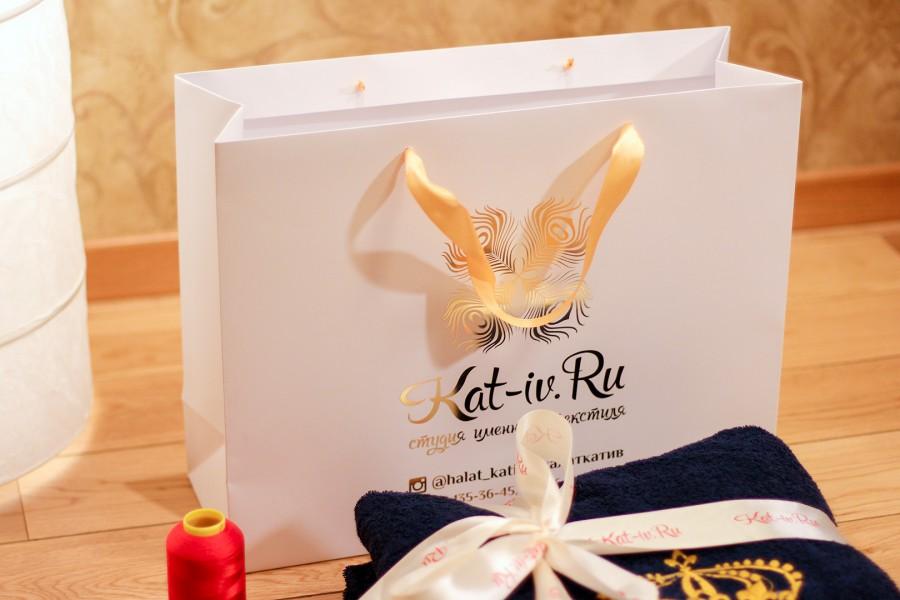 Подарочный пакет и упаковка студии именного текстиля Kat-iv.Ru