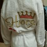 Юлия - халат с вышивкой имени для ребенка