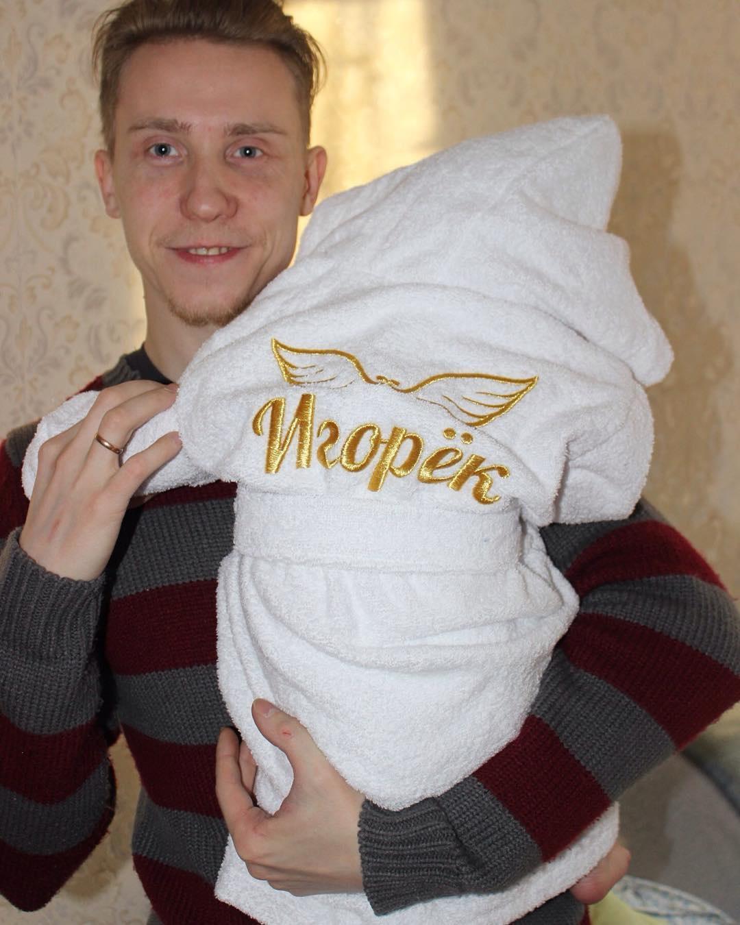 Детский халат махровый с вышивкой